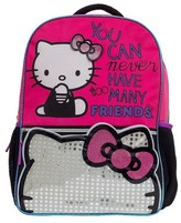 """Hello Kitty 16"""" Light Up Kids Backpack - Pink"""