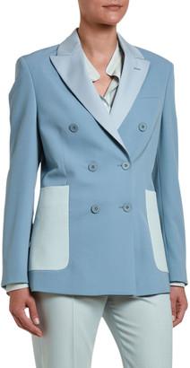 Stella McCartney Colorblock Double-Breasted Blazer