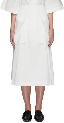 Low Classic Pocket detail pleated midi skirt