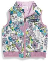 Patagonia Toddler Girl's 'Puff-Ball' Water Resistant Reversible Vest