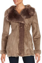 Via Spiga Short Length Faux Fur Coat