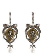 Alexander McQueen Skull And Ribbon Earrings