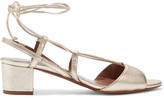 Tabitha Simmons Lori Metallic Leather Sandals - Gold