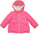 Carter's Pink Dot Long-Sleeve Coat - Preschool Girls