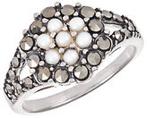 Lord & Taylor Faux Pearl and Rhinestone Ring