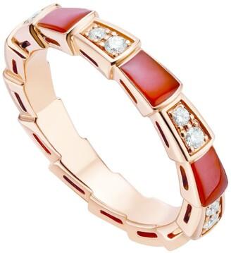 Bvlgari Rose Gold and Diamond Serpenti Viper Ring
