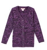 Pink Angel Purple & Black Twist V-Neck Cardigan - Infant Toddler & Girls