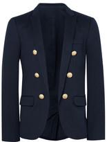 Balmain Blue Slim-fit Cotton-jersey Blazer