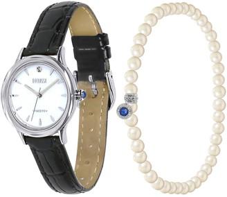 Ecclissi Facets Round Watch & Bracelet Set