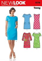 "Simplicity 6176 Size A 8/10/12/14/16/18 ""Misses' Dress with Sleeve"" New Look Sewing Pattern"