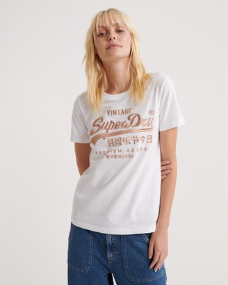 Superdry Premium Goods Luxe Embroidered Tee