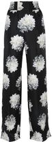 Max Mara Wide Leg Printed Silk Twill Pants