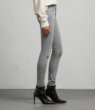 AllSaints Grace Slashed Skinny Jeans