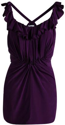 See by Chloe Purple Silk Ruffled Sleeveless Top M