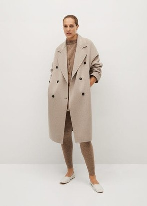 MANGO Handmade wool coat light/pastel grey - XS - Women