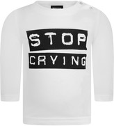DSQUARED2 Baby Boys White Stop Crying Top