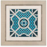 Bassett Mirror Company Indigo Lattice II Framed Wall Art