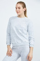 Monrow Burn Out Vintage Raglan Sweatshirt