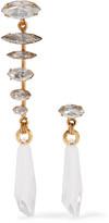 Elizabeth Cole Arya gold-plated Swarovski crystal earrings