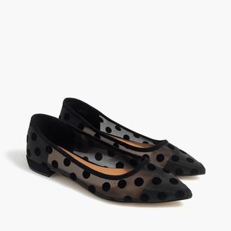 J.Crew Mesh polka-dot Marina pointy-toe flats