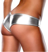 JIEYA 3-Pack Women's Sexy Panties Nightclub Leather Underwear Tanga Clubwear