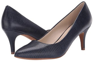 Cole Haan Harlow Pump 65 mm (Marine Blue Embossed Lizard Print) Women's Shoes