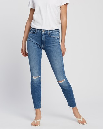 Mother High-Waisted Looker Ankle Fray