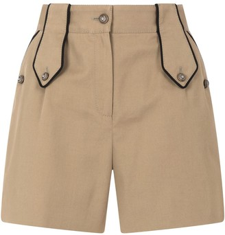 Dolce & Gabbana Military-Details Drill Shorts