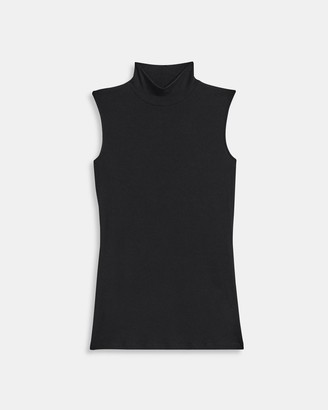 Theory Sleeveless Turtleneck Sweater in Ribbed Viscose