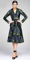 Mac Duggal Long Sleeve Floral Coatdress