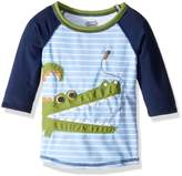 Mud Pie Baby Boy's Gator Rashguard (Infant/Toddler) Swimsuit Top