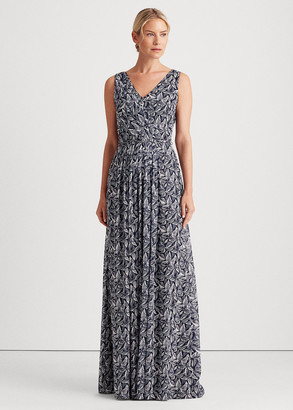 Ralph Lauren Georgette Sleeveless Gown