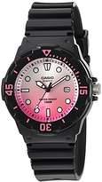 Casio Women's 'Dive Series' Quartz Resin Casual Watch, Color:Black (Model: LRW-200H-4EVCR)