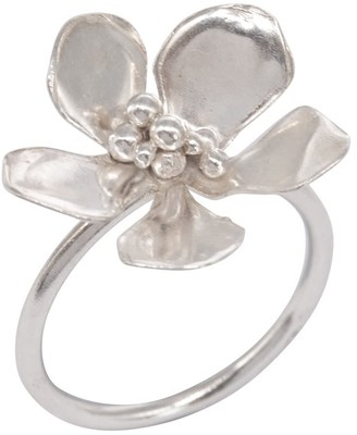Lily Flo Jewellery Jasmine Blossom Ring In Sterling Silver