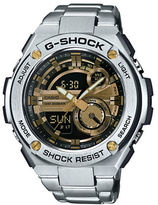 G-Shock Stainless Steel Fold Over Clasp Strap Watch, GST210