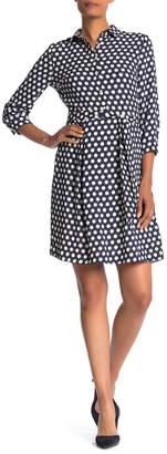 Anne Klein Geo Printed Collared Dress