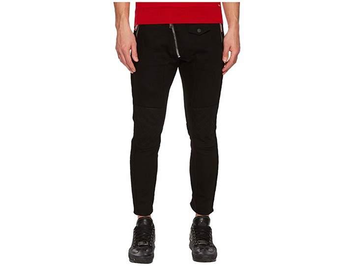 DSQUARED2 Leather Biker Fit Jeans Men's Jeans