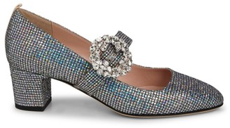 Sarah Jessica Parker Cosette Glittered Block Heel Pumps