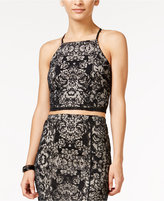 Material Girl Juniors' Burnout Crop Top, Only at Macy's