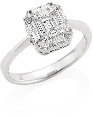 Zydo Mosaic 18K White Gold & Diamond Ring