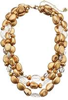 "The Sak Three Row Beaded Necklace, 16"" + 3"" Extender"