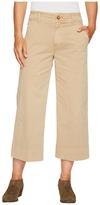 Lucky Brand Wide Leg Crop Pants in Khaki Women's Jeans