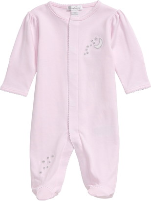 Kissy Kissy Night Moon Pique Pima Cotton Footie