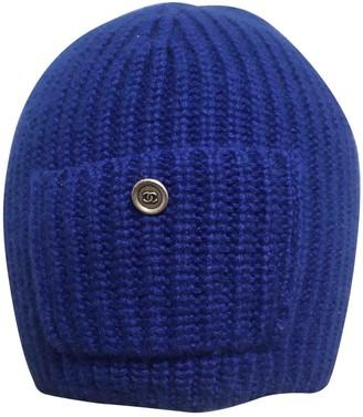 Chanel Blue Wool Hats
