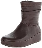 FitFlop Women's Zip Up Crush Leather Boot