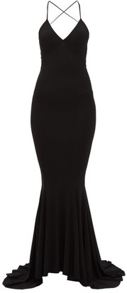 Norma Kamali Fish-tail Jersey Maxi Dress - Womens - Black