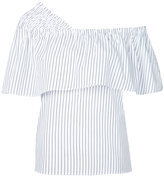Le Ciel Bleu striped off shoulder blouse - women - Cotton - 36