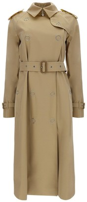 Burberry Colour Block Gabardine Trench Coat