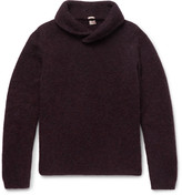 Massimo Alba - Shawl-collar Alpaca-blend Sweater