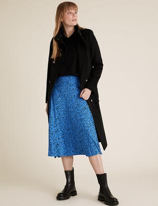 Marks and Spencer Jersey Ditsy Floral Midi Skater Skirt